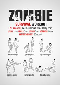 Fun workouts.  Zombie Survival Workout