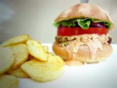 The Juciest Greek Beef Burger With Spicy Feta Sauce
