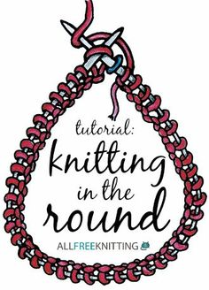 to Knit in the Round Learn how to knit in the round with this helpful tutorial!Learn how to knit in the round with this helpful tutorial! Knitting Help, Easy Knitting, Knitting For Beginners, Loom Knitting, Knitting Stitches, Circular Knitting Patterns, Learn How To Knit, How To Purl Knit, Techniques Couture