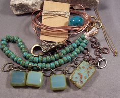 Bracelet TUTORIAL and KIT All Materials needed by MonasLampwork