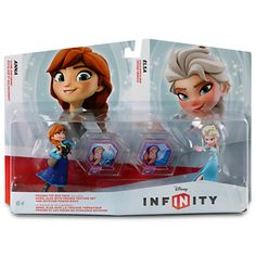 Frozen Toy Box Set includes Disney INFINITY figures for characters Anna and Elsa and Frozen Power Discs Discover a whole new way to play with Disney characters on your Nintendo Wii Wii U Xbox Disney Frozen Toys, Disney Toys, Disney Fun, Disney Movies, Play Frozen, Frozen Movie, Disney List, Frozen Kids, Disney Games
