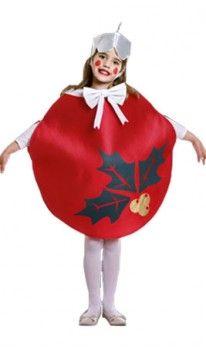 Disfraz de Bola Navidad Roja infantil