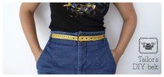 Cinturón DIY con cinta métrica / Tape measure DIY belt | DIY, talleres, slow products