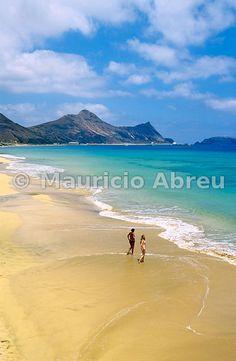 The calm and sandy beach of Porto Santo island. Madeira, Portugal - Images of Portugal Portugal, Portuguese Culture, Beach Scenery, Around The World In 80 Days, Dream Land, Beaches In The World, Beach Walk, Future Travel, Side View