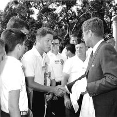 Young Bill Clinton with JFK