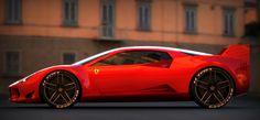 2012 | Ferrari F40 Re-Design | Design by Sasha Selipanov (VW Group Design Team) | Renders by Samir Sadikhov | Source
