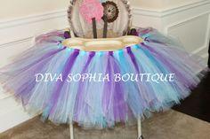 High Chair Tutu Any Color  Tutu High Chair  by DivaSophiaBoutique