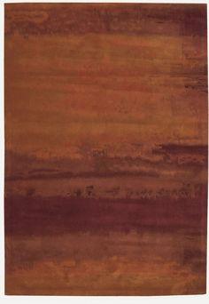 RugStudio presents Calvin Klein Luster Wash Russet Tones Rust Hand-Tufted, Master Bedroom