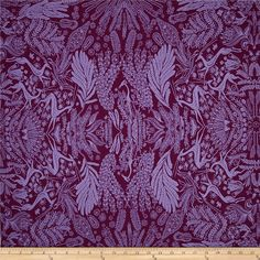 Designed by Amy Butler for Free Spirit, this cotton print is perfect for quilting, apparel and home decor accents. Colors include shades of purple.