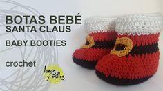Botas Bebé Crochet Santa Claus (+playlist)