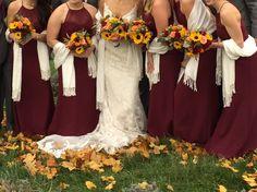 Fall sunflower bouquets at Destiny Hill Farm