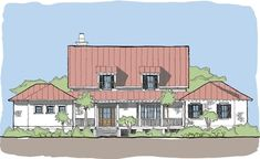 Large Open Floor Plans with Wrap Around Porches - Rest Collection — Flatfish Island Designs — Coastal Home Plans