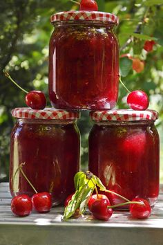 Chutney, Cherry, Cooking Recipes, Meat, Fruit, Vegetables, Food, Vegetable Recipes, Eten