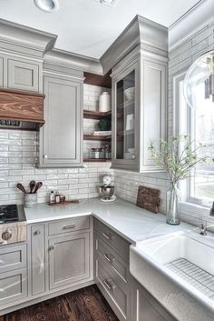Kitchen Inspirations, decor ideas for kitchens, kitchen layout, farmhouse kitchen decorations, dining room Farmhouse Kitchen Cabinets, Modern Farmhouse Kitchens, Kitchen Cabinet Design, Painting Kitchen Cabinets, Diy Kitchen, Kitchen Decor, Kitchen Ideas, Kitchen Inspiration, Kitchen Designs