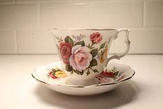 Royal Albert Tea Cup Tea Cup and Saucer Tea by ClockworkRummage, $17.00 Tea Cake Cookies, Bone China Tea Cups, Tea Cakes, Royal Albert, High Tea, Cup And Saucer, Pretty In Pink, Tea Time, Coffee Cups