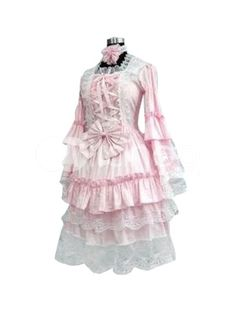 Pink And White Lolita Cosplay Dress | cosplay? More like for regular wear, I love it! So cute.