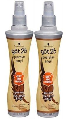 2x Got2b Schwarzkopf Guardian Angel FLAT IRON BALM Heat Protect  6.8oz NEW #Schwarzkopf