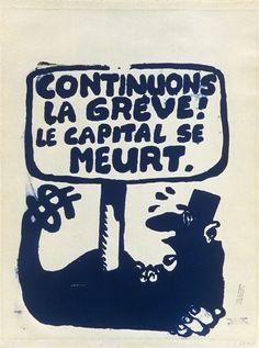 T-SHIRT H sérigraphié POING LEVÉ affiche MAI 68 poster may 1968