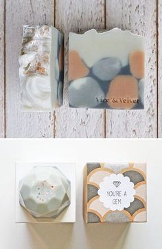 Vice & Velvet creates a beautiful line of handmade soaps. The final forms are geological, reminiscent of layers of earth, with an enticin...