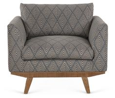 One Kings Lane - American Craftsmanship - Carmel Chair, Teal/Taupe I really like this fabric!