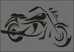 Motorcycle Silhouette Counted Cross Stitch by ChartingCreations Counted Cross Stitch Patterns, Cross Stitch Charts, Cross Stitch Designs, Cross Stitch Embroidery, Snitches Get Stitches, C2c, Mosaic Patterns, Plastic Canvas Patterns, Filet Crochet