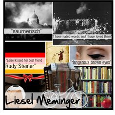 The Book Thief: Liesel Meminger, created by totallylost13 on Polyvore...  Hadn't heard of Polyvore, but loved this collage of Liesel and think the site merits browsing