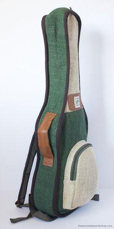 Ukulele Bag Case Tenor Hemp Pure Organic Leather by HempEarthShop