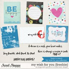 Quality DigiScrap Freebies: My Wish For You journal cards freebie from Blagovest Gosheva and Studio Basic Designs
