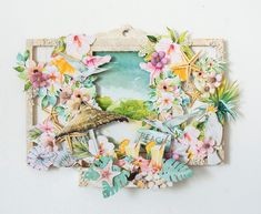 Crafty by AgnieszkaBe Graphic 45, 3d Projects, Shadow Box, Floral Wreath, Wreaths, Crafty, Scrapbooking Ideas, Frame, Home Decor
