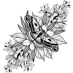 Shin Tattoo, Knee Tattoo, Leg Sleeve Tattoo, Half Sleeve Tattoo Stencils, Floral Tattoo Sleeves, Sleeve Tattoo Designs, Moth Tattoo Design, Floral Tattoo Design, Tattoo Design Drawings
