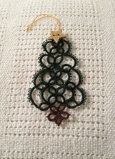 Etha Schuette's pattern made smaller, to send in Christmas cards.