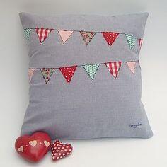 Appliquéd Bunting Cushion