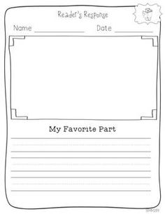 reader's response- activities for early finishers