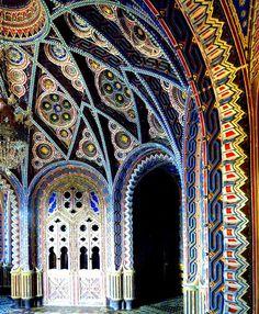 Castello di Sammezzano in Reggello, Tuscany, Italy...