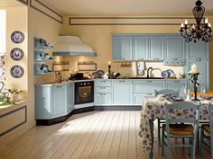 Coutry style the Italian way kitchen - Colombini light blue