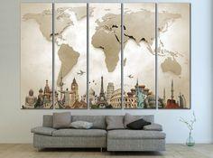 LARGE World Map №702