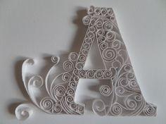 Initiale par leonor-de-papier. Carte toute occasion , papier roulé ou quilling, fait main 3D