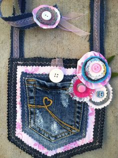 Upcycled Denim Pocket Purse.