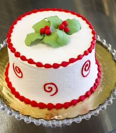 A Dewey's holiday cake created by our decorators! Cake # 002.