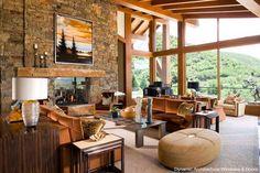 Rustic Wood Window Wall - traditional - windows - Dynamic Architectural Windows & Doors