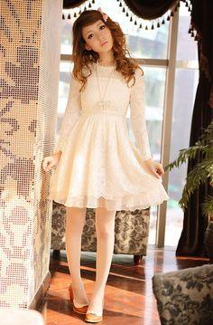 Mango Doll - Circle Pattern Lace Dress , $63.00 (http://www.mangodoll.com/all-items/circle-pattern-lace-dress/)