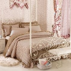 Elegant Blue White Embroidery Cotton Bedding King Size European ...