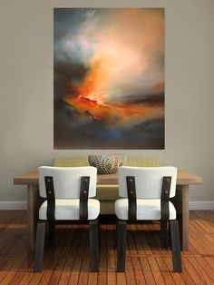 Abstract Landscape Oil Painting by SimonkennysPaintings on Etsy