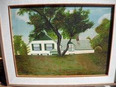 Rare Canadian Folk Art Anne of Green Gables by Brammer Important Canadian Work