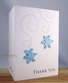 Snowflake thank you card