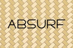 Absurf is a thin lettered and cool sans serif font. It can easily be matched to an incredibly large set... Sans Serif Fonts, Lettering, Drawing Letters, Brush Lettering