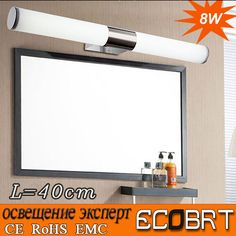 Find More Wall Lamps Information about Newly Designed Modern 8W 40CM LED Bathroom Light Fixtures Mirror Wall light Indoor mirror front Sconces lighting lamps,High Quality lamp text,China lamp halogen Suppliers, Cheap lighted digital wall clock from ECOBRT LED LIGHTING on Aliexpress.com