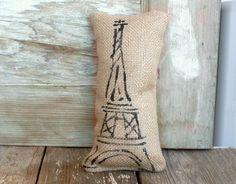 Eiffel Tower -  Burlap Doorstop. $10.00, via Etsy.