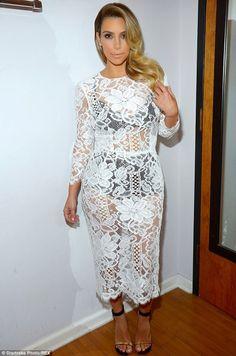 Kim Kardashian - White Lace Dolce & Gabbana Dress
