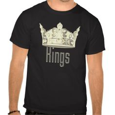 Kings Gold words with Gold Crown over the words T-shirt